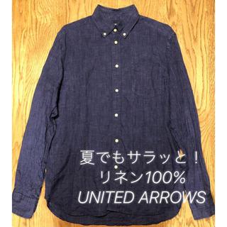 UNITED ARROWS - 夏でもサラッと!UNITED ARROWS リネン麻 100% 着心地よいシャツ