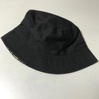 リバーシブル バケットハット 黒