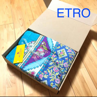 エトロ(ETRO)の タグ付き 新品 エトロ コットンガーゼ ハーフケット 膝掛け(その他)