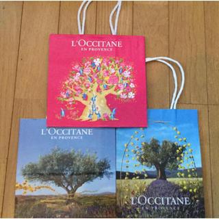 ロクシタン(L'OCCITANE)のタイムセール☆ロクシタン ショップ袋 限定柄入り 3点(ショップ袋)