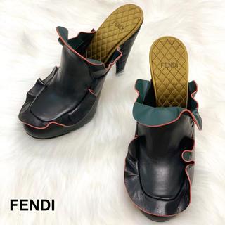 フェンディ(FENDI)の1012 新品未使用 FENDI フリルトリム サンダル(サンダル)