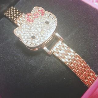 サンリオ(サンリオ)の激レア ハローキティー kitty ゴールド キラキラ ストーン 腕時計(腕時計)