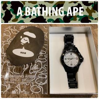 A BATHING APE - ✴️希少 完売品✴️BAPEX ベイペックス アナログ 腕時計 ブラック