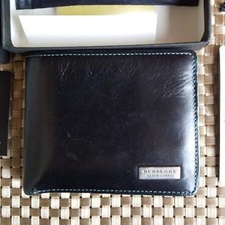 バーバリーブラックレーベル(BURBERRY BLACK LABEL)のバーバリー牛革black LABEL 折り財布(折り財布)
