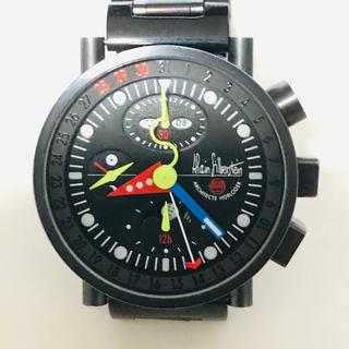 アランシルベスタイン(Alain Silberstein)の希少 ALAIN SILBERSTEIN アラン シルベスタイン ブラッククロノ(腕時計(アナログ))