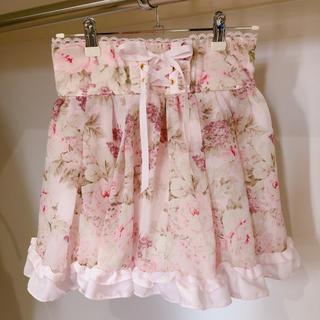 LIZ LISA - LIZ LISA 花柄 ピンク スカパン