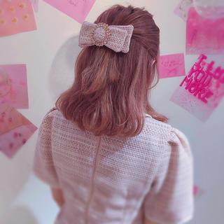 スワンキス(Swankiss)のswankiss SG bijou ribbon valletta(バレッタ/ヘアクリップ)
