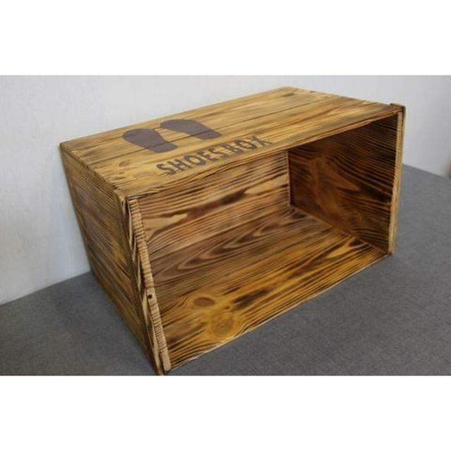 【受注生産 A50】りんご箱リメイクシューズボックス 下駄箱 下足箱 来客用靴棚