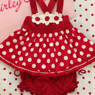 Shirley Temple - シャーリーテンプル🎀ベビースーツ  お花🌸90