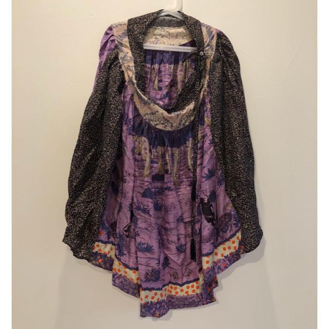 TSUMORI CHISATO(ツモリチサト)のTSUMORI CHISATO♡くまの森 シルク スカート パープル aiko着 レディースのスカート(ひざ丈スカート)の商品写真