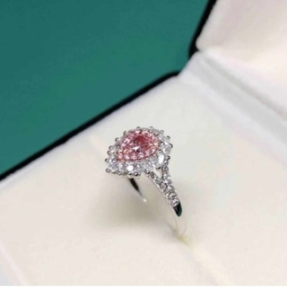 GIA♡Fancy Purplish Pinkダイヤモンドリング(リング(指輪))