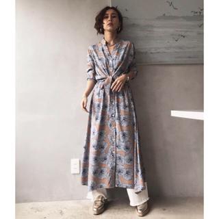 アメリヴィンテージ(Ameri VINTAGE)のTIE SHIRT DRESS(ロングワンピース/マキシワンピース)