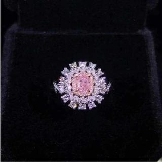 GIA♡F.L.Purplish Pinkダイヤモンドリング(リング(指輪))