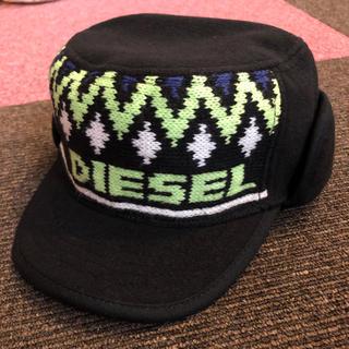 ディーゼル(DIESEL)のDIESEL ワークキャップ フリースニット素材 キッズ 新品未使用(帽子)
