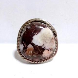 1356 SIRVER925 ナバホ 天然石ワイルドホースリング12号(リング(指輪))