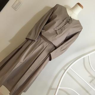 新品[Style Note]◇◇13号◇ブラウス+スカート◇秋色(ひざ丈ワンピース)