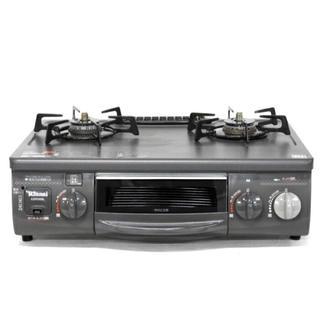 リンナイ(Rinnai)のRinnai リンナイ RTS-338WNTS -L グレー ガスコンロ(調理機器)
