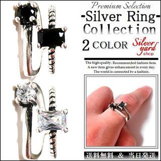 [85]指輪 フリーサイズ リング CZダイヤ(キュービック ジルコニア)(リング(指輪))