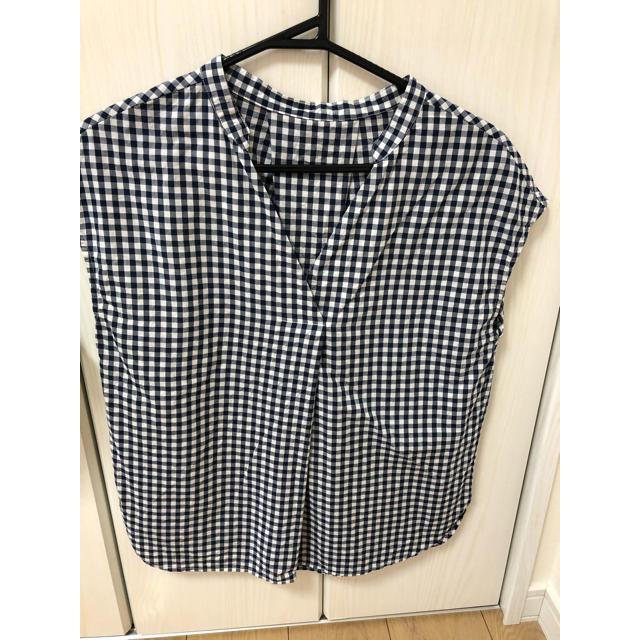 GU(ジーユー)のGUギンガムチェック レディースのトップス(シャツ/ブラウス(半袖/袖なし))の商品写真