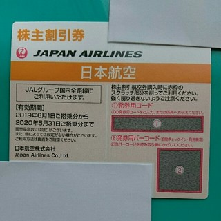 JAL(日本航空) - JAL株主割引券(国内線50%割引)