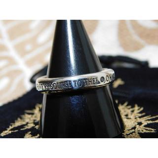 新品 SAINTS ブラックダイヤモンド マリア リング 17号(リング(指輪))
