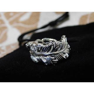 SAINTS ホワイトジルコニアフェザーリング 11号 新品(リング(指輪))