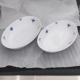 ロイヤルコペンハーゲン(ROYAL COPENHAGEN)の【未使用】ロイヤルコペンハーゲン ブルーパルメッテブロッサム オーバルDペア27(食器)