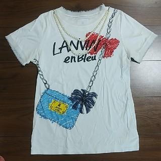 ランバンオンブルー(LANVIN en Bleu)の【美品】LANVIN en Bleu Tシャツ(Tシャツ(半袖/袖なし))