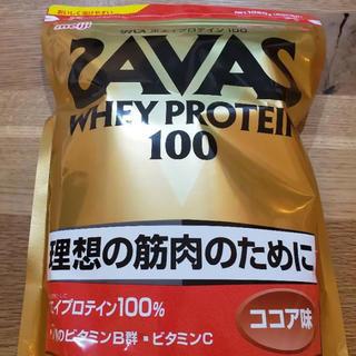 ザバス(SAVAS)のザバス ホエイプロテイン100 ココア味50食分1,050g×2袋(プロテイン)