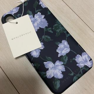 タグ付き新品未使用 iphoneX/XS用 ミラー付き 花柄ケース フラワー