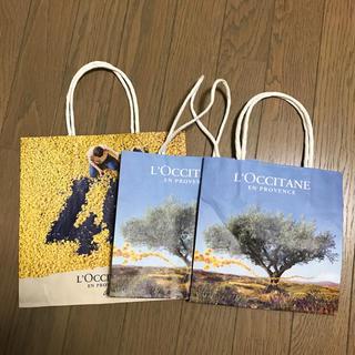 ロクシタン(L'OCCITANE)のL'OCCITANE ショップ袋 3枚(ショップ袋)