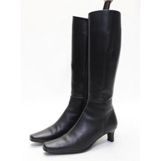 マリーファム(Marie femme)のMarie femme/本革シンプルロングブーツ(22cm2E)美品 (ブーツ)
