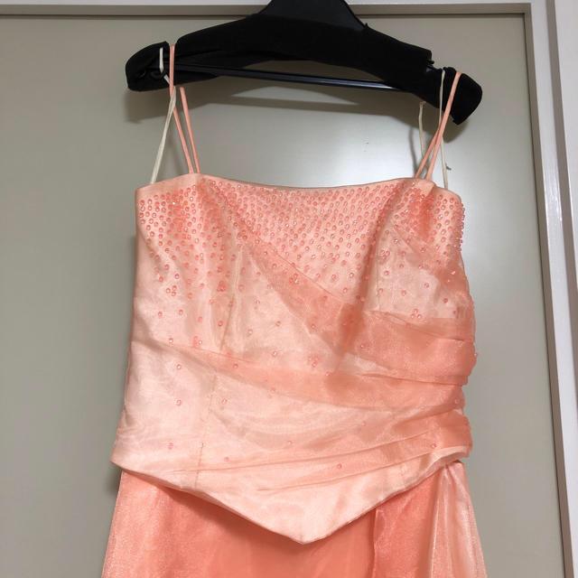 ステージドレス オレンジ レディースのフォーマル/ドレス(ロングドレス)の商品写真