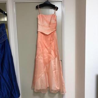ステージドレス オレンジ(ロングドレス)