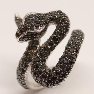 トクトクジュエリー ブラックダイヤモンド 18金ホワイトゴールド リング(リング(指輪))