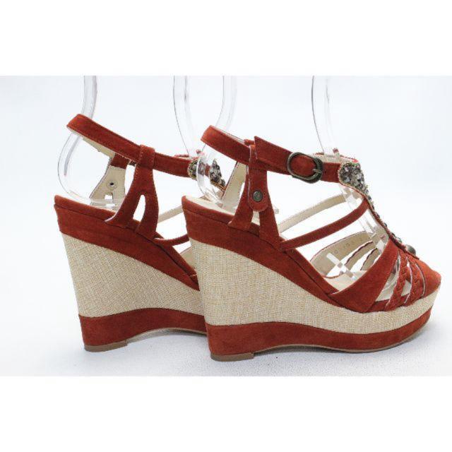 VII XII XXX(セヴントゥエルヴサーティ)の110■VII XII XXX 本革ウエッジサンダル(35)超美品 レディースの靴/シューズ(サンダル)の商品写真