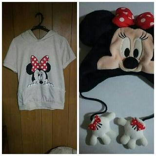 ミニーマウス(ミニーマウス)のミニーマウス半袖フード付き、被り物(キャラクターグッズ)