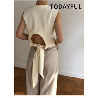 TODAYFUL - 【新品】TODAYFUL Backtie Sweat Tanktop