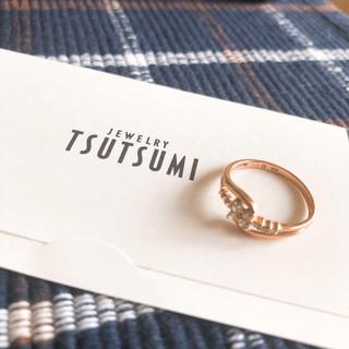 JEWELRY TSUTSUMI - ジュエリーツツミ美品ピンクゴールドダイアモンドリング