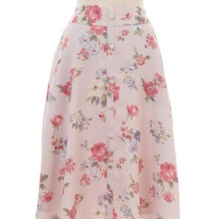 LIZ LISA リズリサ ヴィンテージフラワー柄スカート 花柄 ピンク ミモレ