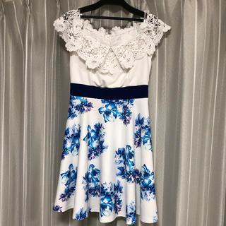 dazzy store - オフショル 花柄フレア ミニドレス