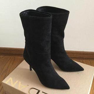 ドゥーズィエムクラス(DEUXIEME CLASSE)の新品未使用 BALDAN バルダン ブーツ スエード ブラック 36 23cm(ブーツ)