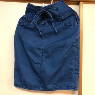 ウィゴー(WEGO)のデニムタイトスカート デニムスカート(ひざ丈スカート)