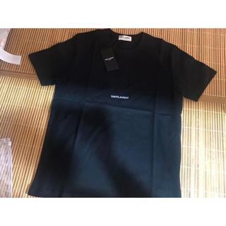 サンローラン(Saint Laurent)のTシャツ 黒 L(Tシャツ/カットソー(半袖/袖なし))