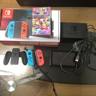 ニンテンドースイッチ(Nintendo Switch)のNintendo Switch 画面フィルム マリオカート8デラックス 付き(家庭用ゲーム機本体)
