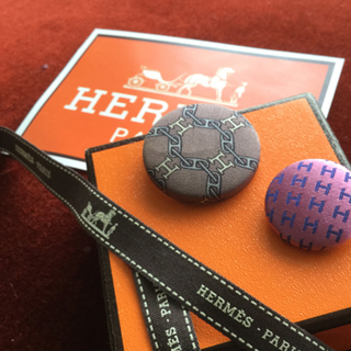 エルメス(Hermes)のエルメス くるみボタン    1個(ヘアゴム/シュシュ)