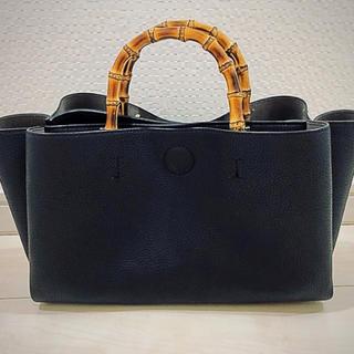 レイジースーザン(LAZY SUSAN)のゆか様専用     人気のバンブーバッグ  BLACK  (ハンドバッグ)