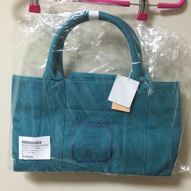 MERCURYDUO(マーキュリーデュオ)のキャンバストートバック レディースのバッグ(トートバッグ)の商品写真