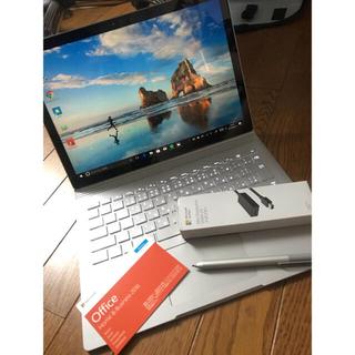 マイクロソフト(Microsoft)のSurface book i5 256GB dGPU搭載モデル office付(ノートPC)