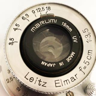 ライカ(LEICA)のLeica Elmar 5cm f3.5 1934年製 純正フード付き(レンズ(単焦点))